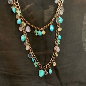 Turquoise beaded necklace